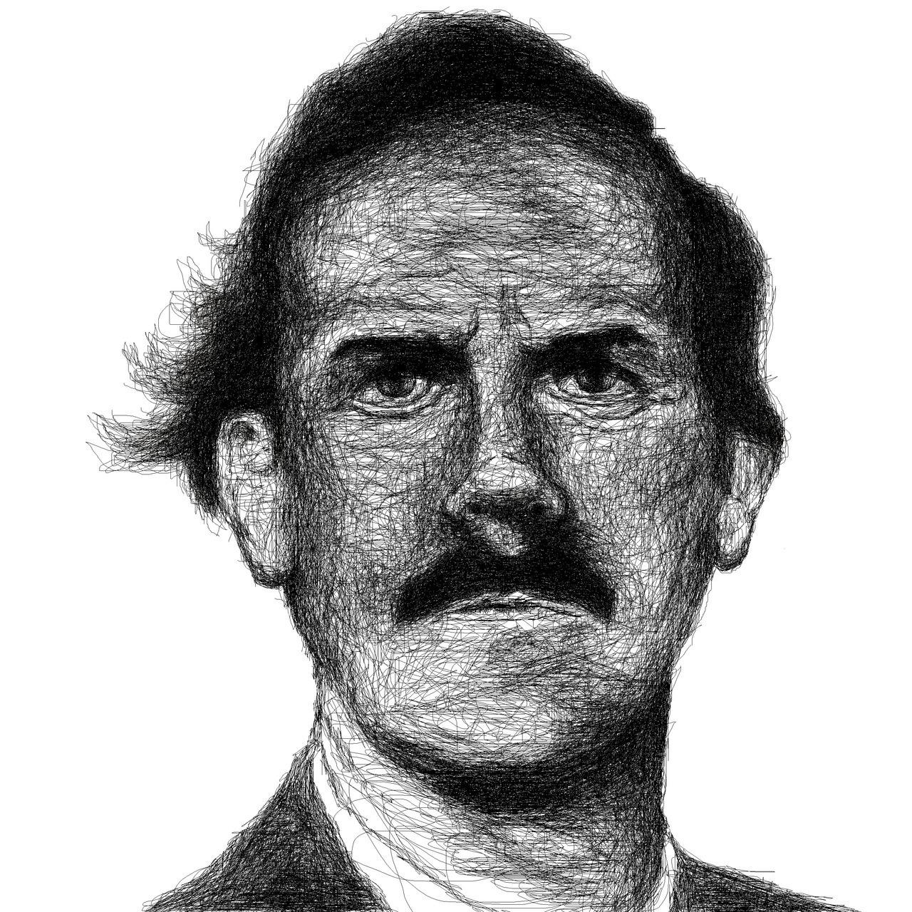 John Cleese fun. Basil Fawlty drawn on photoshop.