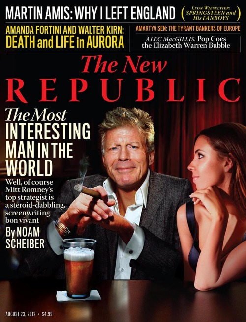 In this issue of The New Republic: Noam Scheiber profiles the man behind the Romney Campaign. Alec MacGillis explores the struggles of Elizabeth Warren. Julia Ioffe looks into an activist's stand against Vladimir Putin. Evgeny Morozov critiques the latest offerings from TED.  and More!