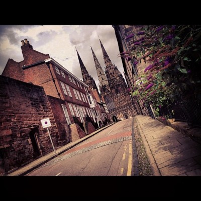 Amazing architecture. Lichfield. #london2012 #UK (Taken with Instagram at Lichfield Cathedral)
