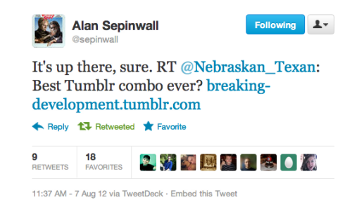 TV critic Alan Sepinwall showing some love!