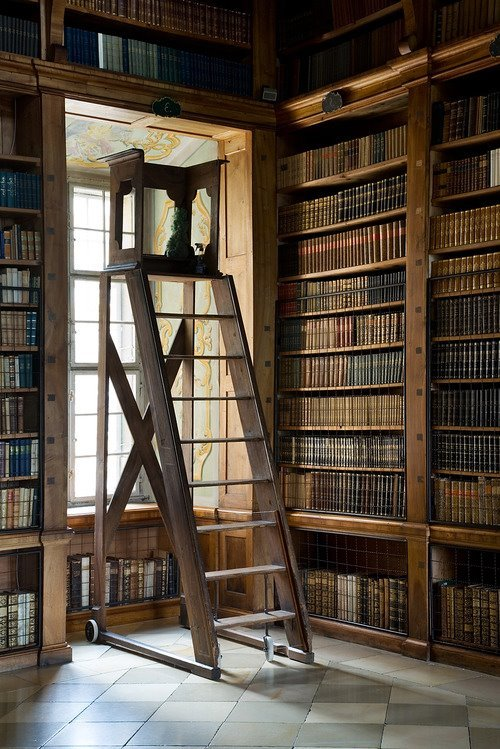 seafaringgypsy:  Melk Abbey Library by Jorge Royan.
