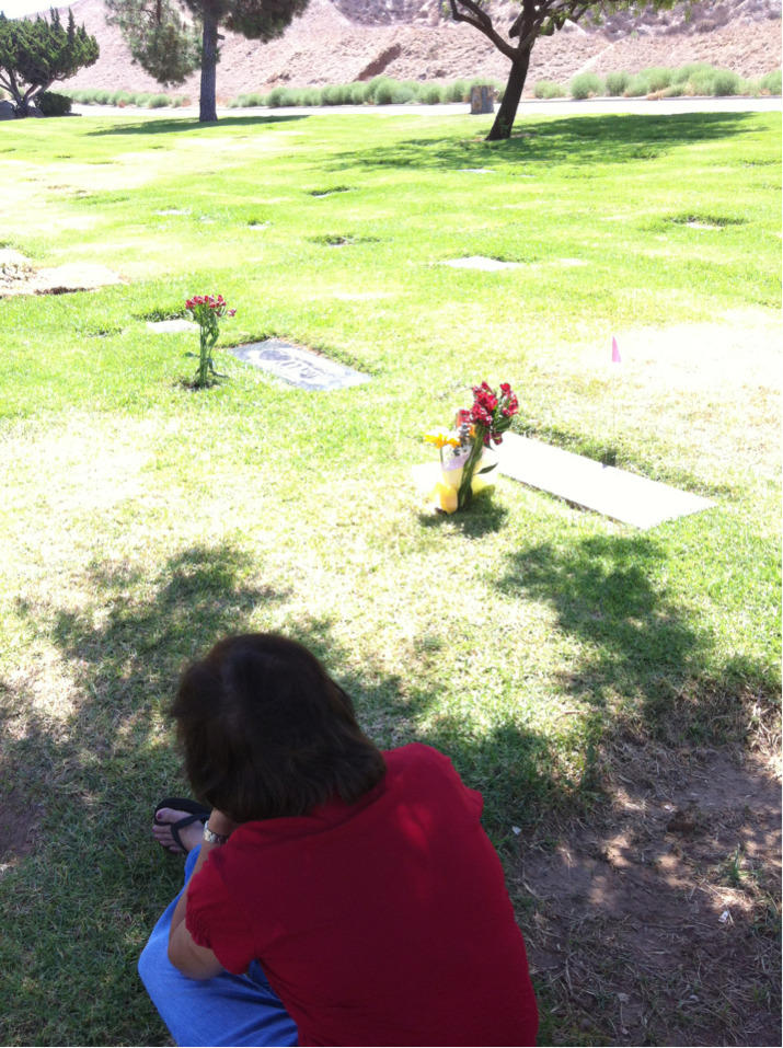Visiting grandpa, grandma, and Auntie Jean. Today is my gramps's 9th death anniversary. Damn, it's almost a decade.  A lot of shit has happened with the family since my grandparents passed. I wonder if they approve.