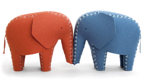 Felt Elephants by Daniel Böttcher