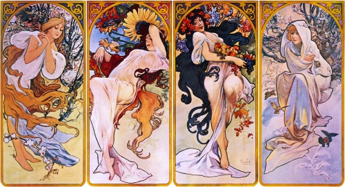 Mucha's 4 Seasons