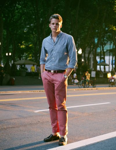 Eric is Preppy Perfection at Sunset in Bryant Park…Midtown East, NYC (via Unabashedlyprep)