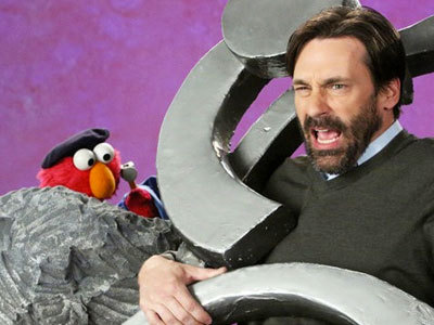 "Jon Hamm Visits ""Sesame Street"" With Elmo, My Ovaries Explode - The Frisky"