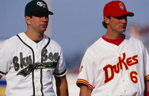 mightyflynn:  Helton & Konerko, 1997 AAA All-Star Game, Sec Taylor Stadium Des Moines, Iowa Photo by Jonathan Daniel/Getty Images h/t @Bill_TPA