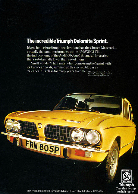 Triumph Dolomite by Lost-Albion on Flickr.Triumph Dolomite