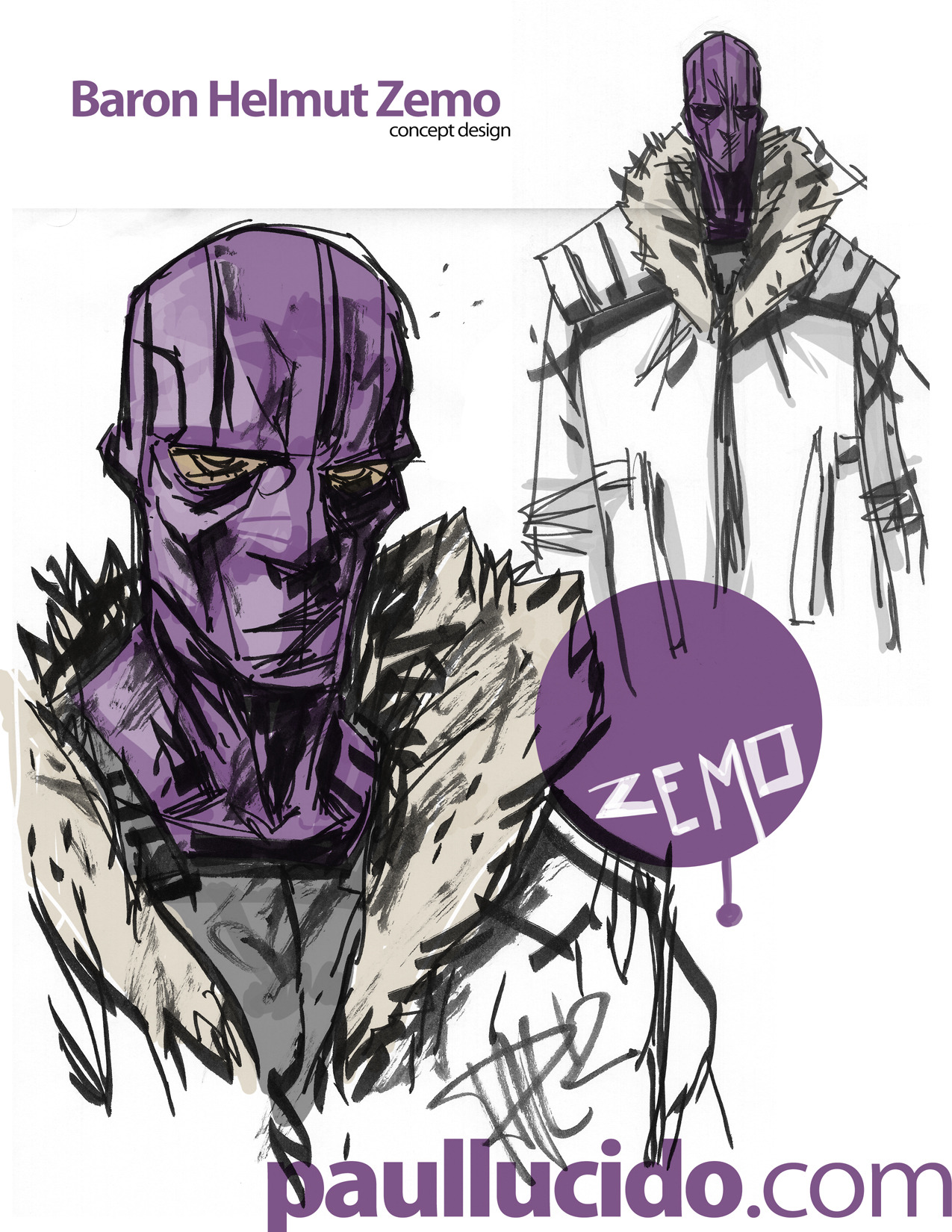 My concept for Baron Helmut Zemo