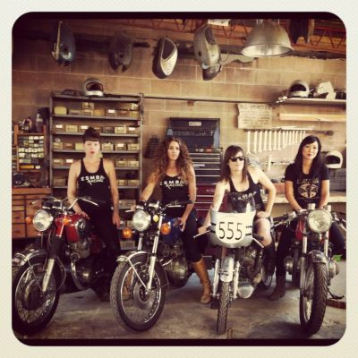Look at them motoladies! East Side Moto Babes, lookin' great and being equally amazing at the Babes on Motos 3 event.