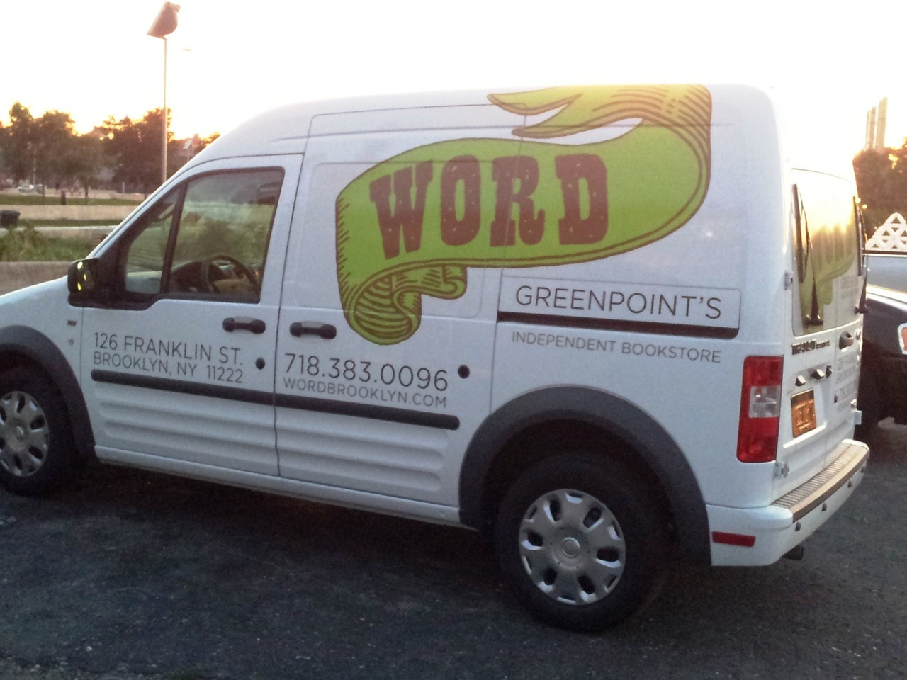 "So hey, WORD now has a van, which we will have to refer to as the WORDmobile from here on in. Perhaps if other NY indie bookstores get their own vans, there will eventually be a subculture of illicit after-hours bookstore-van racing? It would be like The Fast and the Furious, but with bookstore employees. ""I just live life…one quarter page at a time."""