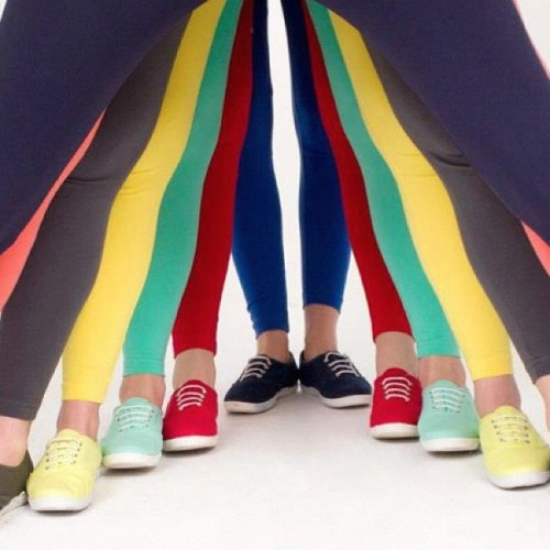 Tennis shoes and cotton leggings. #americanapparel #leggings #tennisshoes - americanapparelusa http://instagr.am/p/OCeGZHnL8T/