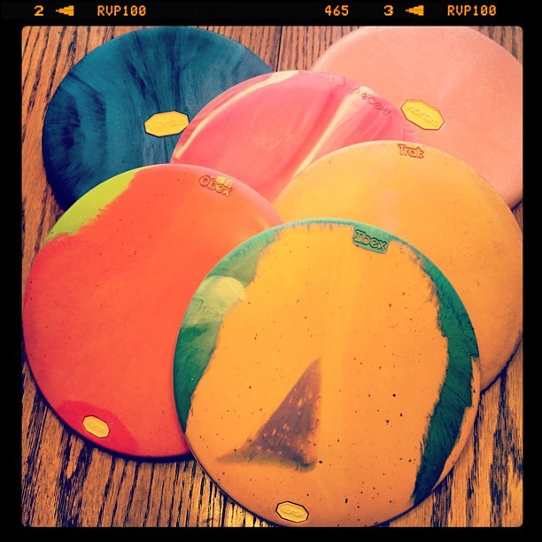 I've finally got it, a full bag of #Vibram discs. #DiscGolf (Taken with Instagram)