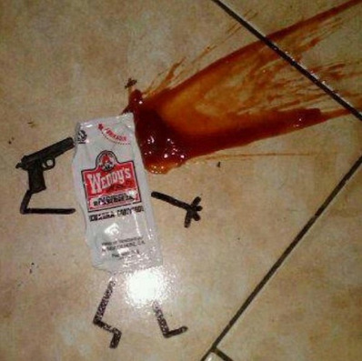 collegehumor:  Ketchup Commits Suicide Such a tragedy for one so young and delicious.