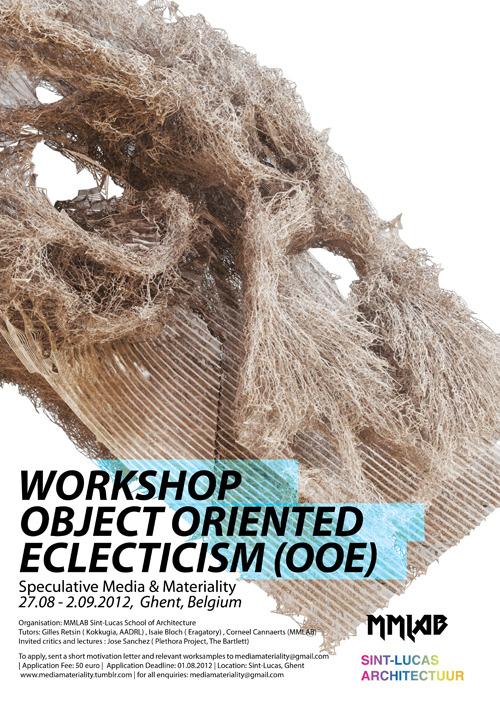 Workshops. Gent, Belgium. I'm coming!http://mediamateriality.tumblr.com/brief