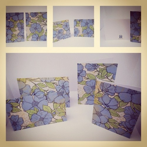 Blue poppies stationary set. 4 cards #armstrongnotes #picoftheday #instagood #creativity #handmade (Taken with Instagram)