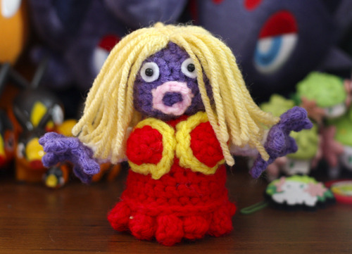 Jynx, a human shape Pokemon. Another commission by Geeky Cute Crochet.
