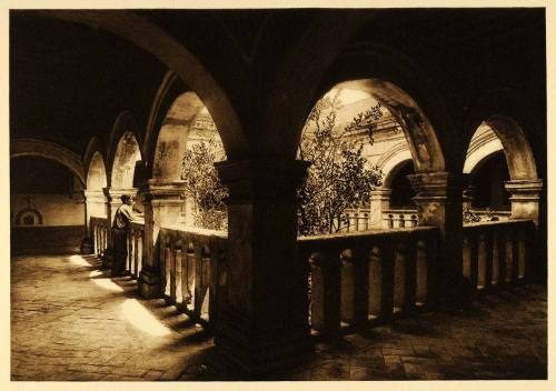 Churubusco Monastery in Mexico, 1925 by Hugo Brehme