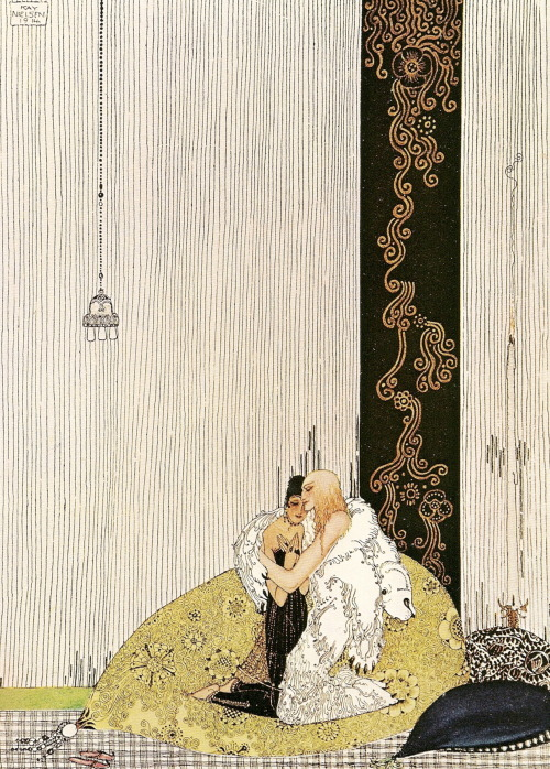 illustration by kay nielsen for east of the sun and west of the moon, 1914