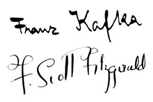 strandbooks:  I miss the days when authors' signatures were embossed in books.  Famous Authors' Signatures - Part 2 (Part 1 is here)
