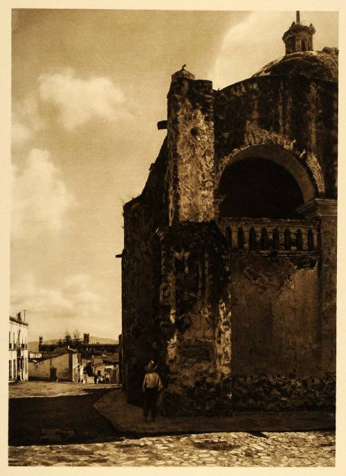 Cathedral in the city of Cuernavaca, Mexico, 1925 by Hugo Brehme