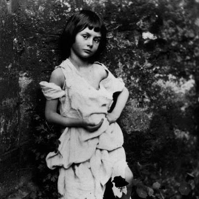 semplice-mente:  Alice Liddell dressed as begger maid. Was the girl for and about whom Lewis Caroll (1832-1898) wrote Alice's Adventures in Wonderland?