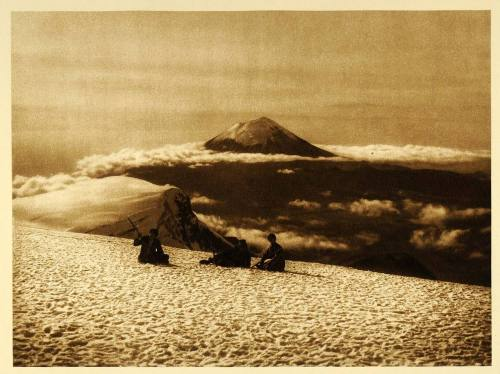 Popocatepetl, an active volcano, Mexico, 1925 by Hugo Brehme