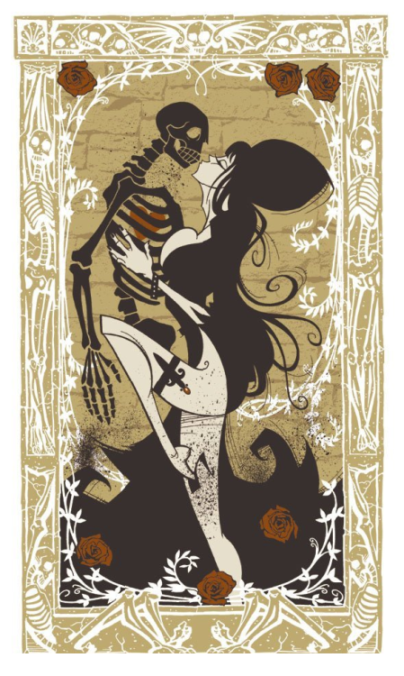 primalheart:  batwife:  Elvira by Gris Grimly - Limited Edition Poster Print    Omgs! I hope this print is still available! I HAVE to get this for the Lumberjack, he is such a mad Elvira fan & this is stunning!