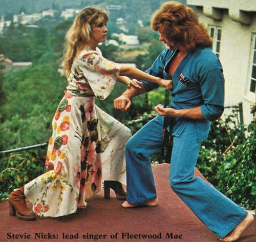 Stevie Nicks engaged in martial arts. #what! via John Ringhoff aka @BadBillyPratt  ps, yes that is chuck norris.