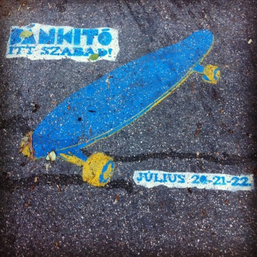 Skateboard in Blue (Taken with Instagram at Kazinczy utca)