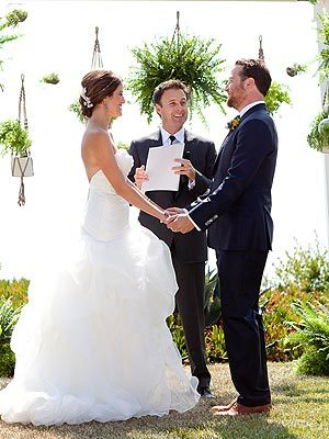 """It might be a new job for me."" - The Bachelor host Chris Harrison, who officiated the wedding of Bachelor producers Cassie Lambert and Pete Scalettar, to PEOPLE"