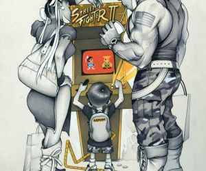(via Street Fighter Family Time – Illustration par C. B. Murray | Ufunk.net)