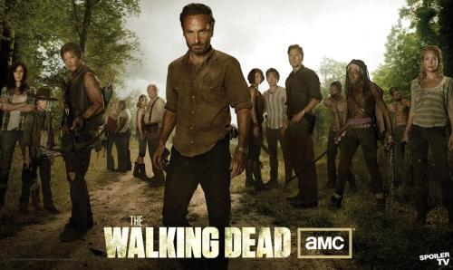 "AMC Release Cast Banner For ""The Walking Dead"" Season 3 AMC has released a new banner in preparation for the debut of the third season of the post-apocalyptic drama, The Walking Dead. The banner showcases the full, central cast for the third season, which will adapt the prison storyline of the comics, whilst introducing fan-favorite characters Michonne (Danai Gurira) and the Governor (David Morrissey) to the small screen. The first episode of The Walking Dead's 16-episode third season will air October 14. [Spinoff]"