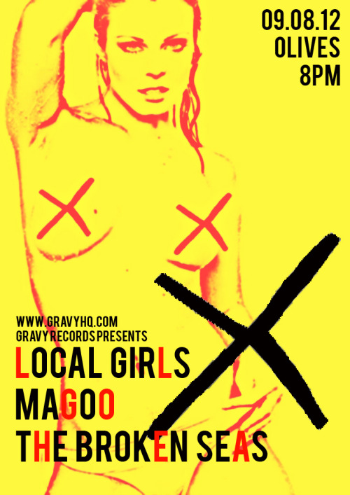 YEAH YEAH OK OK. norwichmusic:  Gig - Gravy Presents Local Girls + Magoo + The Broken Seas - Olives - 9.08.2012 Kicks off at 8pm, tickets £5 in advance, £6 on the door. Tickets / Local Girls / Magoo / The Broken Seas