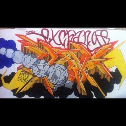 #exchange #graffiti #art #blackbook #prismacolor #markers #erah #twitter #tumblr #facebook #instapic #follow #followback #2012 @shesaavandal  (Taken with Instagram)