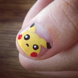 Miles gave me his thumb to practice pikachus:) (Taken with Instagram)