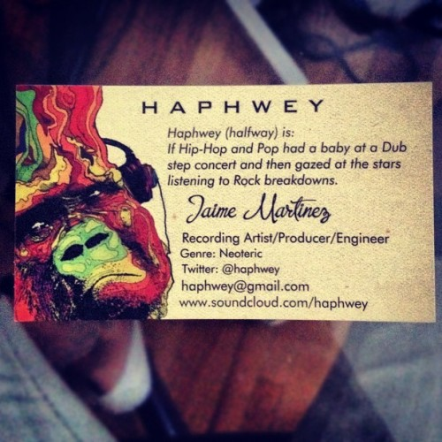My new business cards finally arrived. Gotta admit they came out dope as fuck! #business #theinvasion #haphweymusic #goodmusic #movement #graffiti #monkey #record #studio #dope #nyc #hollywood #ambition (Taken with Instagram)