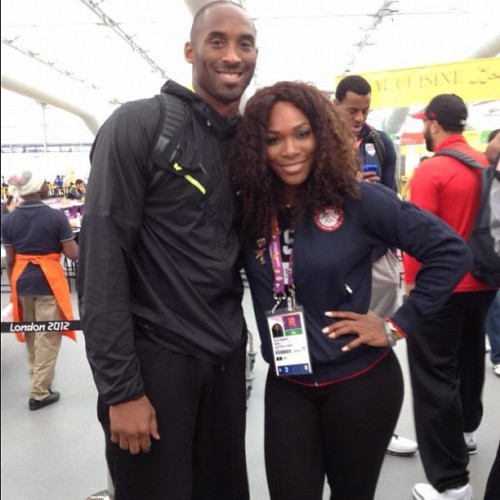 #kobe🏀 and @serenawilliams🎾 #london2012 #serenawilliams #champions🏆 (Taken with Instagram)