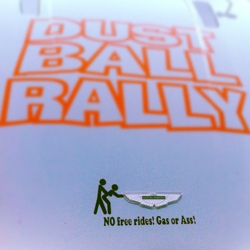"#DustballRally Recap Day -1: #Rally Rules ""#Gas or #Ass"" #astonmartin #aston #vantage #roadster  (Taken with Instagram)"
