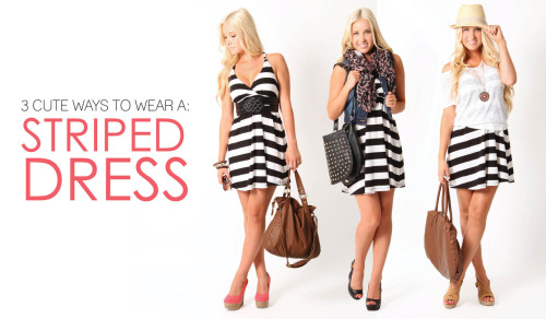 1 Dress Styled 3 Ways Shop these looks online > Which outfit is your favorite?