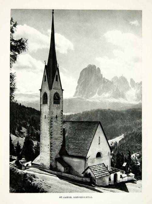 St. Jakob's Church in the countryside of Switzerland, 1952