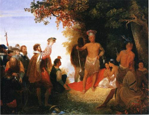 1835 John Cadsby Chapman - The Coronation of Powhatan