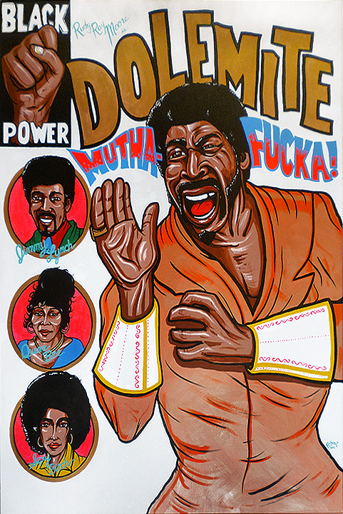 """Dolemite"" by Lou Rusconi 36""x48"" unframed acrylic on canvas"