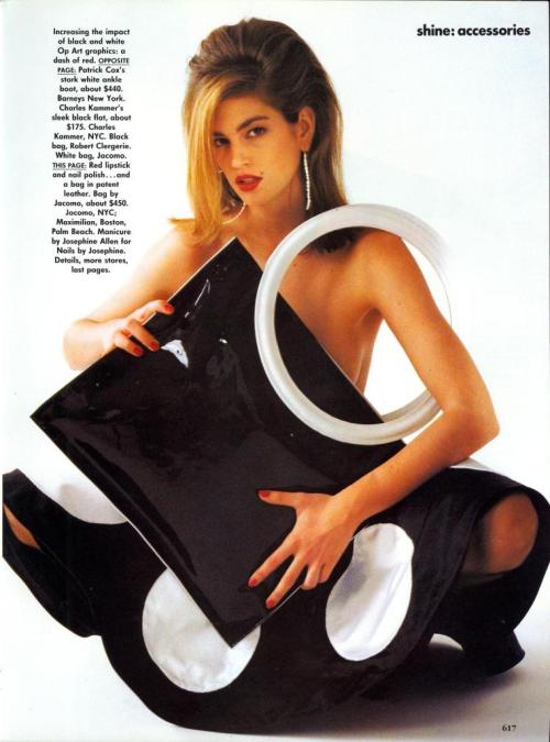 supermodelshrine:  Cindy by Patrick Demarchelier, 1990