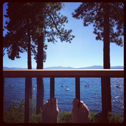 patio view #tahoe  (Taken with Instagram)