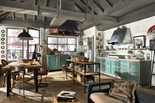cataclysmtheories:  Loft interior with awesome kitchen (via Loft interior with awesome kitchen | Murray Mitchell)