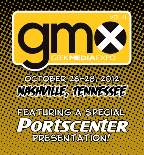 Just a reminder that I'll be attending the Geek Media Expo in Nashville, TN in about a month and a half - October 26th-28th - as a special guest. Have they lost their minds? Quite possibly, but I hope to earn my place on their roster. I'll be giving a one-hour talk-y presentation-y thing on videogame ports, which may or may not require volunteers from the audience (I'm still up in the air on that one - do I use edited video footage of games, or have volunteers play the games on-stage?). I'll also be participating in a Doctor Who panel, and another panel on webcomics - because, y'know, I write two webcomics. It promises to be a great weekend. If you're not interested in going to see me, perhaps you'll go to see Doug Walker, Veronica Belmont, Rob Paulsen, Ellen McLain, Billy West, Amber Nash, or the Two Guys From Andromeda. They'll all be there. With me. We're on the same guest list and everything. Crikey. (Image via the portscenter Tumblr)