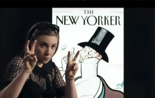 laughingsquid:  Lena Dunham, Jon Hamm & Alex Karpovsky Introduce the iPhone App for The New Yorker