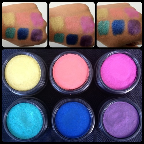 Mac Electric Cool Eye Shadows.