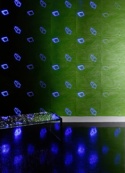 laughingsquid:  Glowing LED Wallpaper